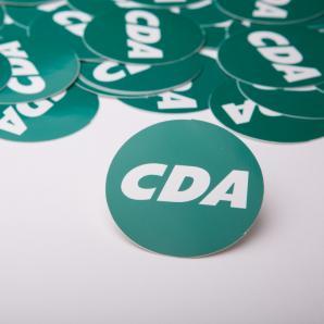 Stickers, doorsnee ca. 5,5 cm.