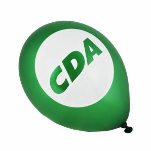 Ballonnen (groen metallic), 100% biologisch afbreekbare natuurlatex.