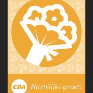 Kaart: Hartelijke groet voor CDA-leden